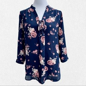 J for Justify 3/4-Sleeve Floral Blouse